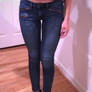 Rag & Bone Ankle Zip Skinny Kensington 29 MSRP$218